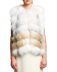 Fox fur chiffon trim vest medium 5146890