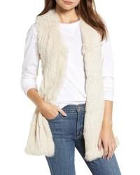 Love Token Genuine Rabbit Fur Knit Vest
