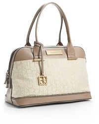 Candice logo jacquard lurex dome satchel medium 339086