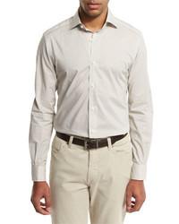 Ermenegildo Zegna Geo Print Sport Shirt Medium Beige