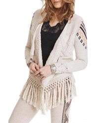 Aztec fringe cardigan medium 450201