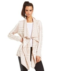 Bar iii geometric print cardigan medium 450151