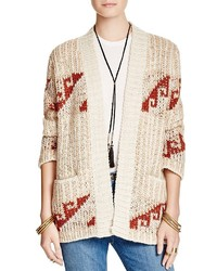 Free People Time And Again Geometric Pattern Cardigan