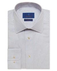 David Donahue Trim Fit Non Iron Plaid Dress Shirt
