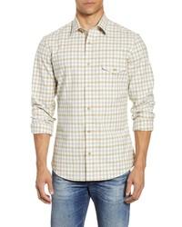 Nordstrom Men's Shop Trim Fit Check Flannel Button Up Shirt