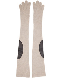Maison Margiela Beige Long Gauge 7 Gloves