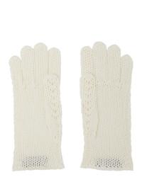 Gucci Off White Crochet Gloves