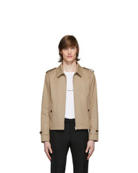 Saint Laurent Beige Gabardine Double Face Jacket