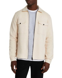 River Island Jersey Cotton Shirt Jacket