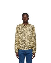 Gucci Yellow And Black Leopard Jacket