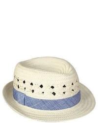 Cherokee Newborn Boys Straw Fedora Hat