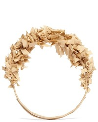 Yunotme By Gloria Yu Flock Silk Flare Crown Headband