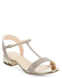 Casati pearly heel lurex t strap sandals medium 3702322
