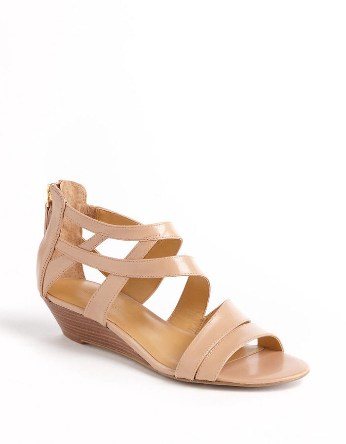 19ce1dae3aa ... Nine West Vocals Leather Wedge Sandals ...