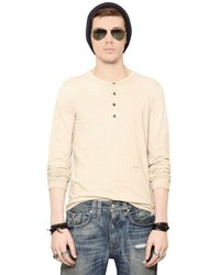 Cycle Cotton Wool Jersey Henley T Shirt