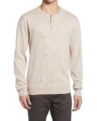 Schott NYC Henley Crewneck Sweater