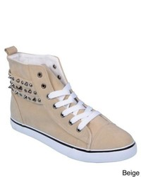 Journee Collection Havie Studded High Top Sneakers