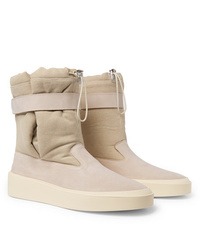 Fear Of God Suede And Canvas High Top Sneakers