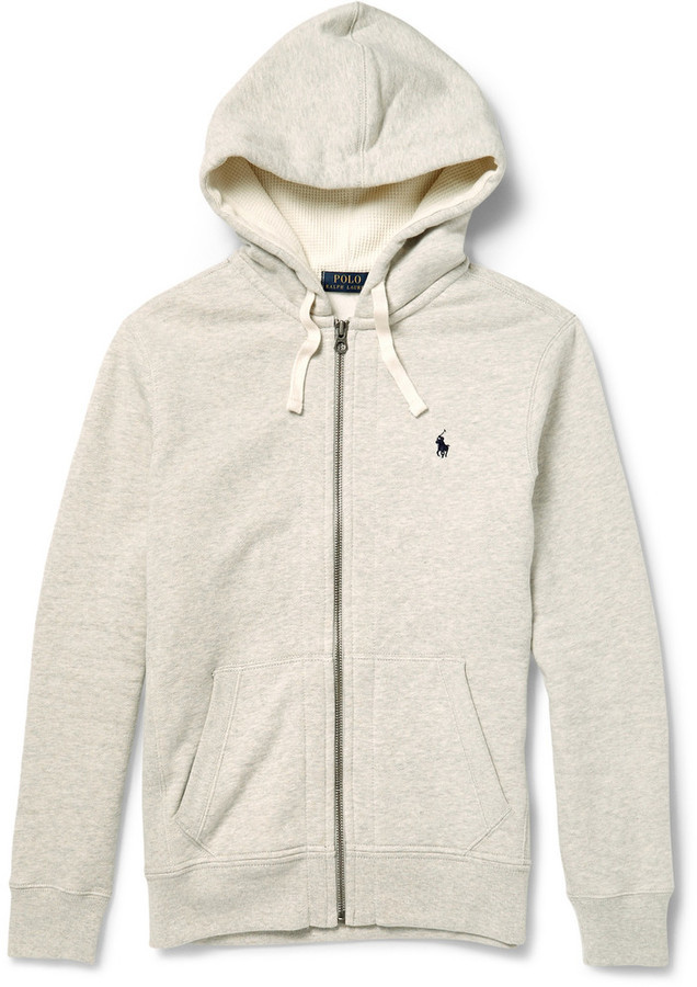 Polo Ralph Lauren Marl Cotton Blend Zip Up Hoodie 100 Mr Porter