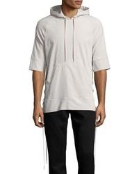 Helmut Lang Side Lace 12 Sleeve Pullover Hoodie Beige