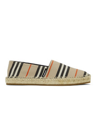 Burberry Beige Icon Stripe Alport Espadrilles