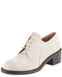 Laurence Dacade Canvas Lace Up 40mm Oxford