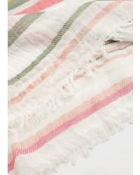 Violeta BY MANGO Stripe Pattern Cotton Scarf