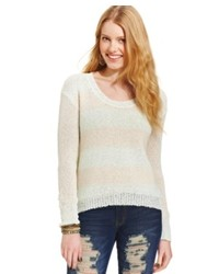 American Rag Scoop Neck Striped Sweater