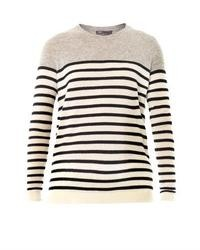 Breton stripe cashmere sweater medium 14956