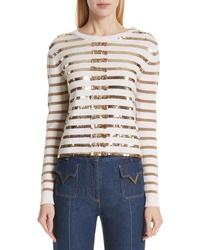 Valentino Ed Stripe Cashmere Sweater