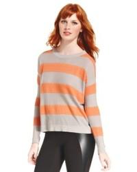 eric + lani Juniors Striped Crew Neck Sweater