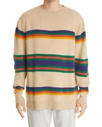 The Elder Statesman Pier Stripe Cashmere Sweater