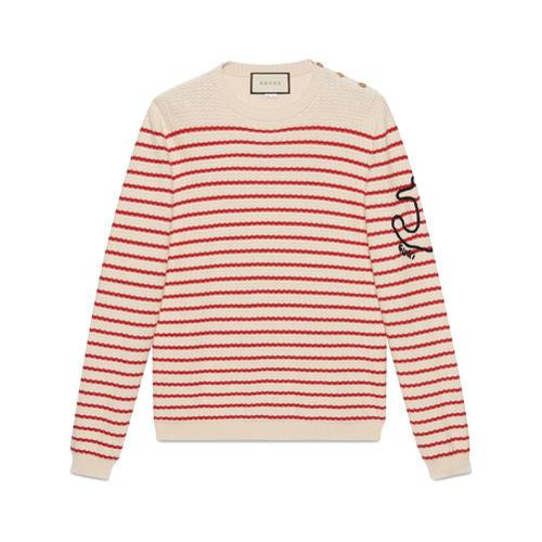312e69efb24 ... Gucci Striped Cashmere Knit Sweater ...
