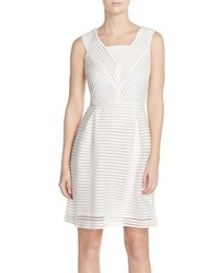 Andrew Marc Marc New York Shadow Stripe Stretch Fit Flare Dress