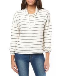 O'Neill Cherie Stripe Funnel Neck Sweatshirt