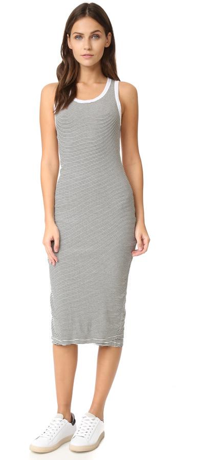 c25a52c075e23 Sundry Stripe Midi Dress, $121 | shopbop.com | Lookastic.com