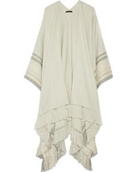 Kleya striped cashmere and silk blend poncho medium 340232