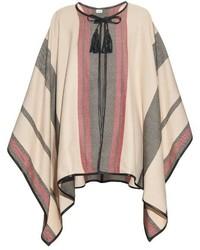Talitha multi striped cashmere poncho medium 340234