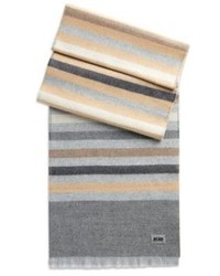 Hugo Boss Jonner Wool Double Sided Scarf