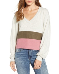 PST by Project Social T Cozy Colorblock Sweatshirt