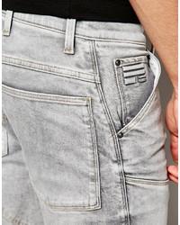 f3956c5a103 ... G Star G Star Jeans Elwood 5620 3d Zip Knee Super Slim Stretch Light  Aged Gray ...