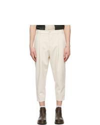 Drôle De Monsieur Off White Denim Cropped Jeans
