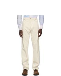 Drakes Off White Selvedge Denim Jeans