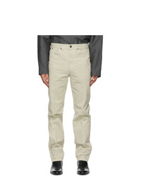 Lemaire Off White Tapered 5 Pocket Jeans