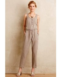 Anthropologie Cloth Stone Drawstring Jumpsuit