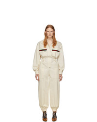 Gucci Off White Canvas Jumpsuit