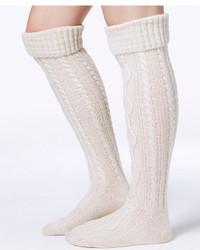 Free People Cable Knit Over The Knee Socks