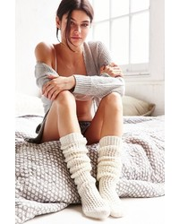 Oversized Cable Chunky Over The Knee Sock