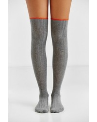 Urban Outfitters Ribbed Scallop Thigh High Sock