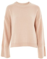 Topshop Knitted Wide Sleeve Top